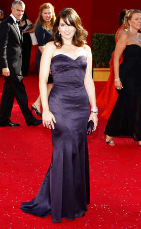 fey: Tina Fey at the 60th Primetime EMMY Awards held at the Nokia Theater in Los Angeles, California, United States on September 21, 2008. Editorial