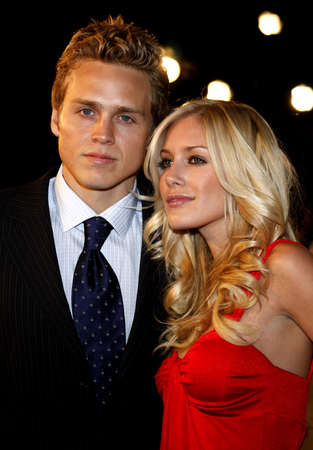 montag: Spencer Pratt and Heidi Montag attend the Los Angeles Premiere of Cloverfield held at the Paramount Pictures Lot in Hollywood, California, United States on January 16, 2008. Editorial