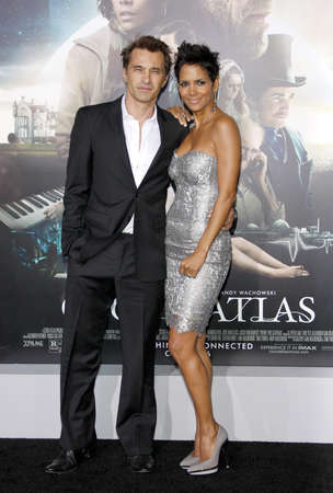 Halle Berry and Olivier Martinez at the Los Angeles premiere of Cloud Atlas held at the Graumans Chinese Theatre in Hollywood on October 24, 2012. Editorial