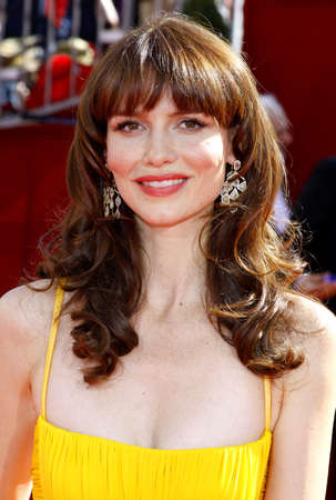burrows: Saffron Burrows at the 60th Primetime EMMY Awards held at the Nokia Theater in Los Angeles, California, United States on September 21, 2008.