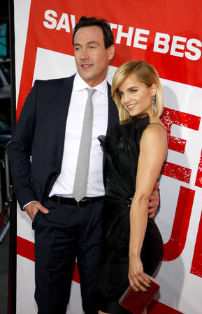 Mena Suvari and Chris Klein at the Los Angeles premiere of American Reunion held at the Graumans Chinese Theater in Hollywood on March 19, 2012. Editorial