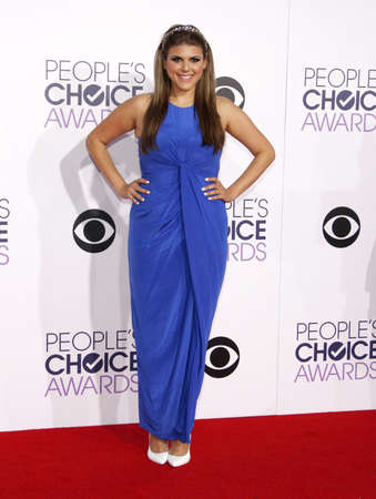 molly: Molly Tarlov at the 41st Annual Peoples Choice Awards held at the Nokia L.A. Live Theatre in Los Angeles on January 7, 2015. Editorial