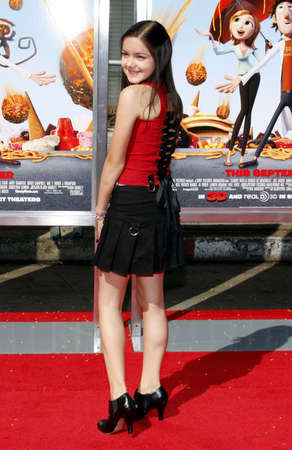 winter theater: Ariel Winter at the Los Angeles premiere of Cloudy With A Chance Of Meatballs held at the Mann Village Theater jn Westwood, USA on September 12, 2009. Editorial