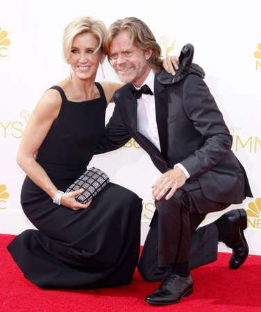 felicity: LOS ANGELES, CA - AUGUST 25, 2014: Felicity Huffman and William H. Macy at the 66th Annual Primetime Emmy Awards held at the Nokia Theatre L.A. Live in Los Angeles, USA on August 25, 2014.