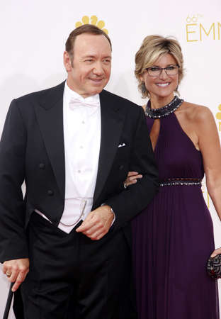 spacey: LOS ANGELES, CA - AUGUST 25, 2014: Ashleigh Banfield and Kevin Spacey at the 66th Annual Primetime Emmy Awards held at the Nokia Theatre L.A. Live in Los Angeles, USA on August 25, 2014.