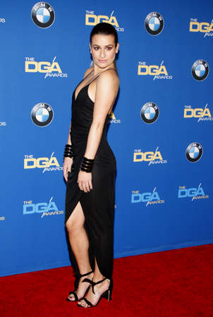 lea: Lea Michele at the 67th Annual Directors Guild Of America Awards held at the Hyatt Regency Century Plaza in Century City on February 7, 2015.