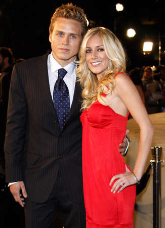 "Montag: Spencer Pratt and Heidi Montag attend the Los Angeles Premiere of ""Cloverfield"" held at the Paramount Pictures Lot in Hollywood, California, United States on January 16, 2008."