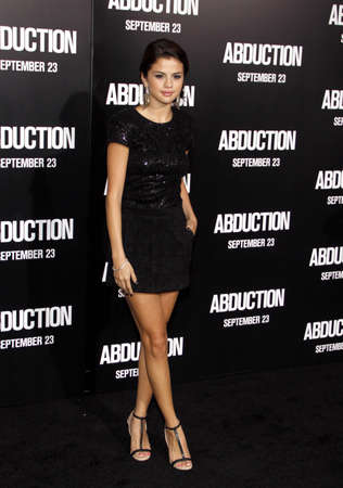 gomez: Selena Gomez at the Los Angeles premiere of Abduction held at the Graumans Chinese Theater in Los Angeles on September 15, 2011.