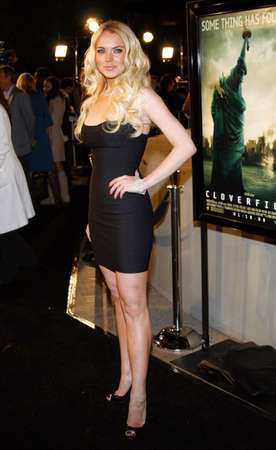 lindsay: Lindsay Lohan attends the Los Angeles Premiere of Cloverfield held at the Paramount Pictures Lot in Hollywood, California, United States on January 16, 2008.