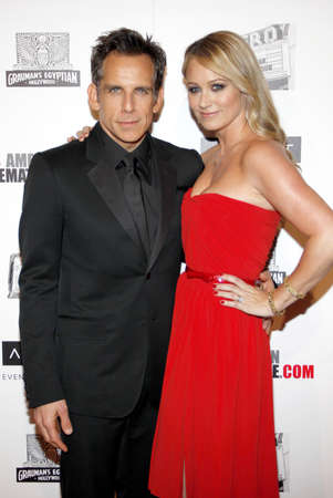 christine: Ben Stiller and Christine Taylor at the American Cinematheque 26th Annual Award Presentation To Ben Stiller held at the Beverly Hilton Hotel in Beverly Hills on November 15, 2012.