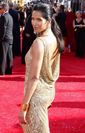 padma: Padma Lakshmi at the 60th Primetime EMMY Awards held at the Nokia Theater in Los Angeles, California, United States on September 21, 2008. Editorial