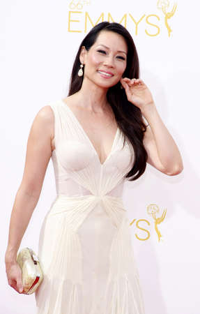 lucy: LOS ANGELES, CA - AUGUST 25, 2014: Lucy Liu at the 66th Annual Primetime Emmy Awards held at the Nokia Theatre L.A. Live in Los Angeles, USA on August 25, 2014.