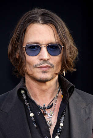 Johnny Depp at the Los Angeles premiere of Dark Shadows held at the Graumans Chinese Theatre in Hollywood on May 7, 2012.