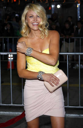 Malin Akerman at the Los Angeles premiere of Couples Retreat held at the Manns Village Theatre in Westwood on October 5, 2009. Редакционное