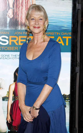 Helen Mirren at the Los Angeles premiere of Couples Retreat held at the Manns Village Theatre in Westwood on October 5, 2009. Редакционное