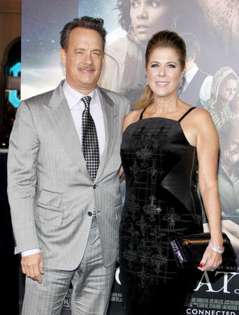 wilson: Rita Wilson and Tom Hanks at the Los Angeles premiere of Cloud Atlas held at the Graumans Chinese Theatre in Hollywood on October 24, 2012.