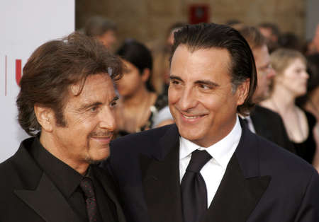 kodak: Al Pacino and Andy Garcia attend the 35th Annual AFI Life Achievement Award: a tribute to Al Pacino held at the Kodak Theatre in Hollywood, California on June 7, 2007.