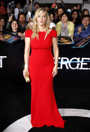 Kate Winslet at the Los Angeles premiere of Divergent held at the Regency Bruin Theatre in Westwood, USA on March 18, 2014. Editorial