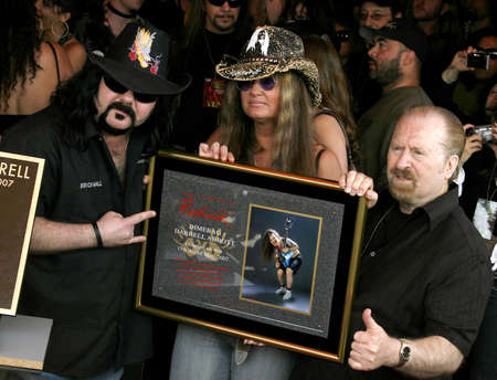 abbott: Vinnie Paul Abbott and Rita Haney at the Posthumoustly Induction of legenadary metal guitarist Dimebag Darrell Abbott into Hollywoods RockWalk held at the Guitar Center in Hollywood, USA on May 17, 2007.