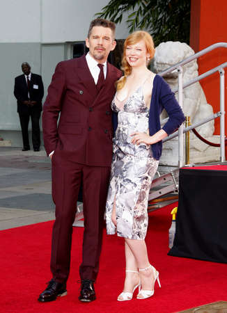 ethan: Ethan Hawke and Sarah Snook at the Ethan Hawke Hand And Footprint Ceremony held at the TCL Chinese Theatre in Hollywood, USA on January 8, 2015.
