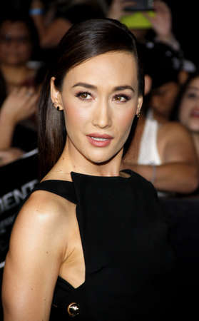divergent: Maggie Q at the Los Angeles premiere of Divergent held at the Regency Bruin Theatre in Westwood, USA on March 18, 2014.