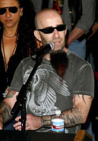 abbott: Scott Ian of Anthrax at the Posthumoustly Induction of legenadary metal guitarist Dimebag Darrell Abbott into Hollywoods RockWalk held at the Guitar Center in Hollywood, USA on May 17, 2007.