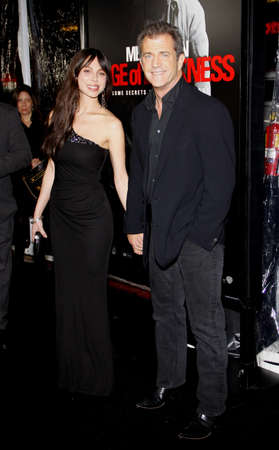 Mel Gibson and Oksana Grigorieva at the Los Angeles premiere of Edge Of Darkness held at the Grauman Chinese Theatre in Hollywood on January 26, 2010. Editorial