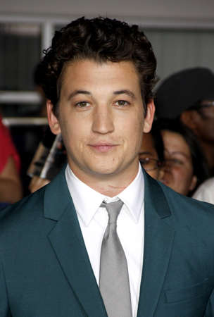 divergent: Miles Teller at the Los Angeles premiere of Divergent held at the Regency Bruin Theater in Westwood, USA on March 18, 2014.