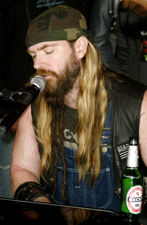 abbott: Zakk Wylde of Black Label Society at the Posthumoustly Induction of legenadary metal guitarist Dimebag Darrell Abbott into Hollywoods RockWalk held at the Guitar Center in Hollywood, USA on May 17, 2007.