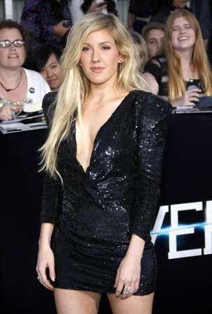 divergent: Ellie Goulding at the Los Angeles premiere of Divergent held at the Regency Bruin Theatre in Westwood, USA on March 18, 2014.