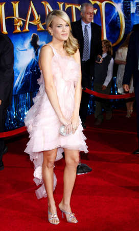 underwood: Carrie Underwood attends the World Premiere of Enchanted held at the El Capitan Theater in Hollywood, California, United States on November 17, 2007.
