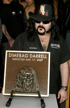 abbott: Vinnie Paul Abbott at the Posthumoustly Induction of legenadary metal guitarist Dimebag Darrell Abbott into Hollywoods RockWalk held at the Guitar Center in Hollywood, USA on May 17, 2007.