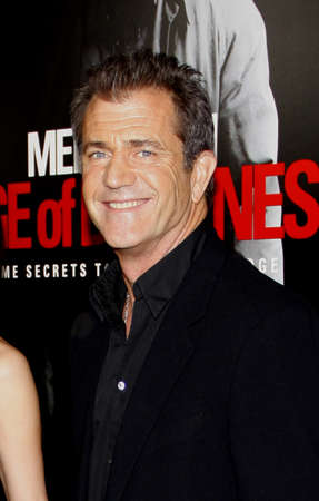 Mel Gibson at the Los Angeles premiere of Edge Of Darkness held at the Grauman Chinese Theatre in Hollywood on January 26, 2010.