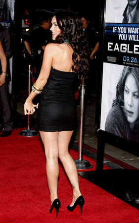 hollywood   california: Megan Fox at the Los Angeles Premiere of Eagle Eye held at the Graumans Chinese Theater in Hollywood, California, United States on September 16, 2008.