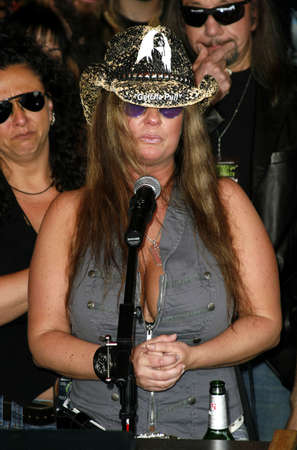 abbott: Rita Haney attends the Posthumoustly Induction of legenadary metal guitarist Dimebag Darrell Abbott into Hollywoods RockWalk held at the Guitar Center in Hollywood, California on May 17, 2007. Editorial