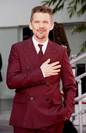 ethan: Ethan Hawke at the Ethan Hawke Hand And Footprint Ceremony held at the TCL Chinese Theatre in Hollywood on January 8, 2015. Editorial