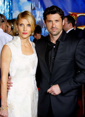 jill: Patrick Dempsey and wife Jill Fink attend the World Premiere of Enchanted held at the El Capitan Theater in Hollywood, California, United States on November 17, 2007. Editorial