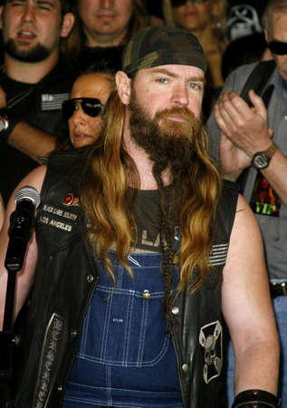abbott: Zakk Wylde of Black Label Society attends the Posthumoustly Induction of legenadary metal guitarist Dimebag Darrell Abbott into Hollywoods RockWalk held at the Guitar Center in Hollywood, California on May 17, 2007. Editorial