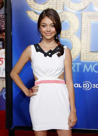 glee: Sarah Hyland at the Los Angeles premiere of Glee: The 3D Concert Movie held at the Regency Village Theatre in Westwood on August 6, 2011.