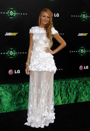 Blake Lively at the Los Angeles premiere of Green Lantern held at the Graumans Chinese Theater in Hollywood on June 15, 2011.