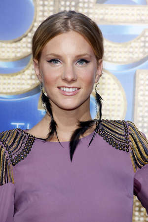 Heather Morris at the Los Angeles premiere of Glee: The 3D Concert Movie held at the Regency Village Theater in Westwood on August 6, 2011.