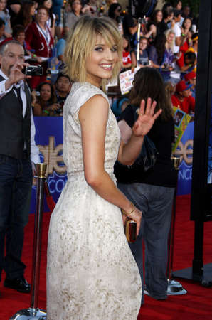 glee: Dianna Agron at the Los Angeles premiere of Glee: The 3D Concert Movie held at the Regency Village Theater in Westwood on August 6, 2011.