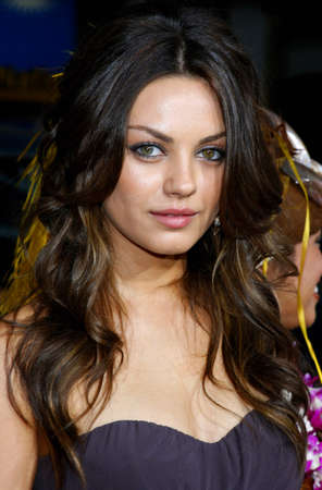 hollywood   california: Mila Kunis attends the World Premiere of Forgetting Sarah Marshall held at the Graumans Chinese Theater in Hollywood, California, United States on April 10, 2008.