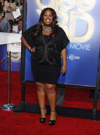 glee: Amber Riley at the Los Angeles premiere of Glee: The 3D Concert Movie held at the Regency Village Theater in Westwood on August 6, 2011.