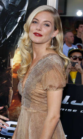 sienna: Sienna Miller at the Los Angeles special screening of G.I. Joe: The Rise Of The Cobra held at the Graumans Chinese Theater in Hollywood on August 6, 2009.