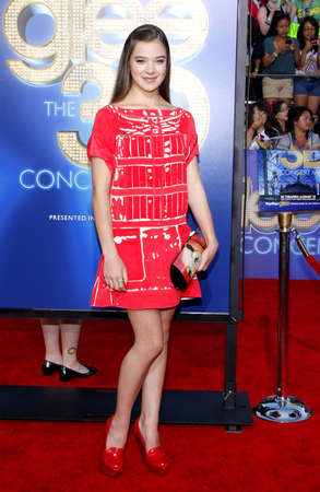 glee: Hailee Steinfeld at the Los Angeles premiere of Glee: The 3D Concert Movie held at the Regency Village Theater in Westwood on August 6, 2011.