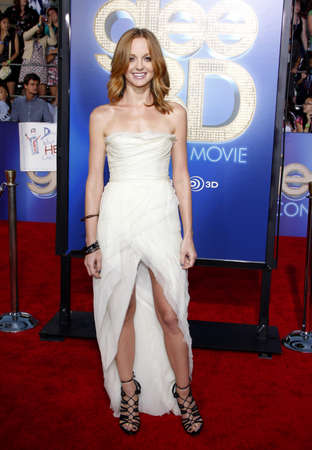 glee: Jayma Mays at the Los Angeles premiere of Glee: The 3D Concert Movie held at the Regency Village Theater in Westwood on August 6, 2011.
