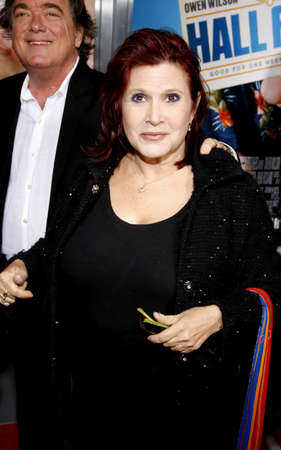 Carrie Fisher at the Los Angeles premiere of Hall Pass held at the ArcLight Cinemas in Hollywood on February 23, 2011.