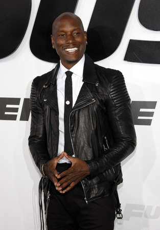 gibson: Tyrese Gibson at the Los Angeles premiere of Furious 7 held at the TCL Chinese Theater IMAX in Hollywood, USA on April 1, 2015.