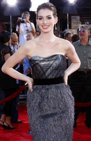hathaway: Anne Hathaway at the Los Angeles premiere of Get Smart held at the Mann Village Theatre in Westwood, USA on June 16, 2008.